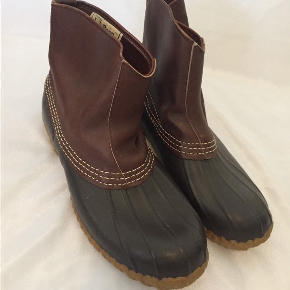 Ll Bean Mens Slip On Duck Boots Rare
